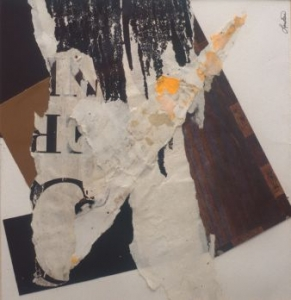 Decollage #63 | 8 3/4 x 8 1/2 | Unframed