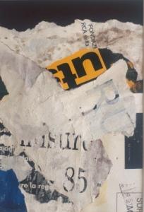 Decollage #64 | 4 1/2 x 6 1/2 | Unframed